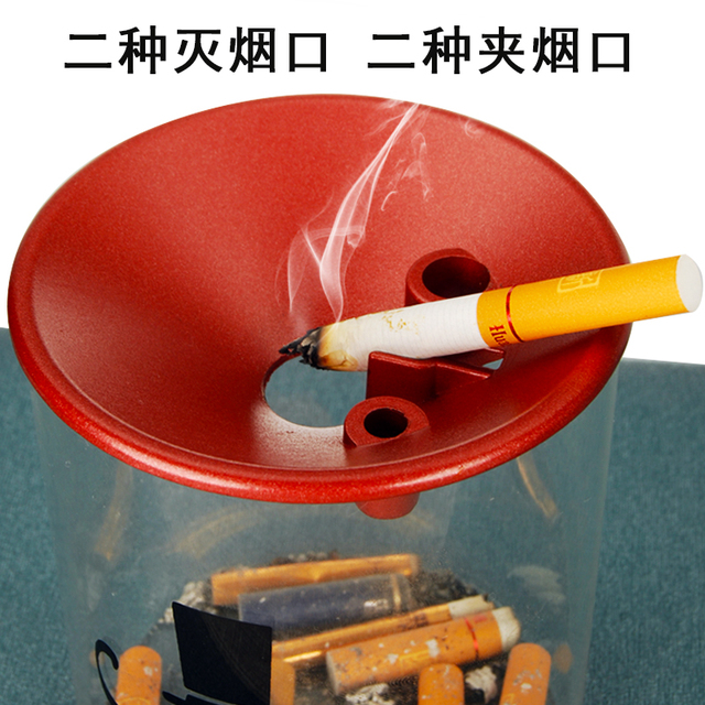Glass ashtray with lid 3