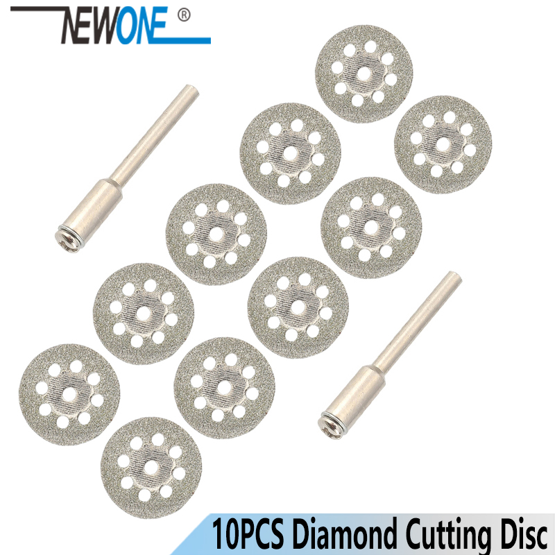 10Pcs 22mm Rotary Tool Accessory Diamond Cut Off Wheel Disc Fits Proxxon Dremel Rotary Tools Craftsman