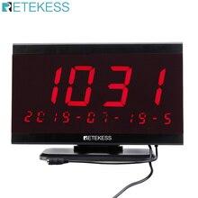 RETEKESS TD105 999 канальный радиочастотный беспроводной приемник дисплей хост больница Ресторан Система вызова хост приемник Голосовая трансляция