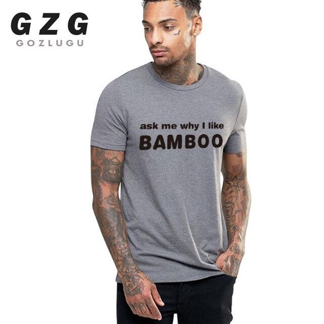 BAMBOO Printing T Shirt Men T-shirts / Shirts color: gray1 gray2