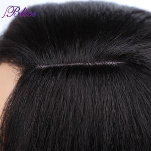 Image 3 - Blice Synthetische Yaki Rechte Pruik 18 22 Inch Lang Haar Zijscheiding Pruiken Geen Pony Voor Afro amerikaanse Vrouwen