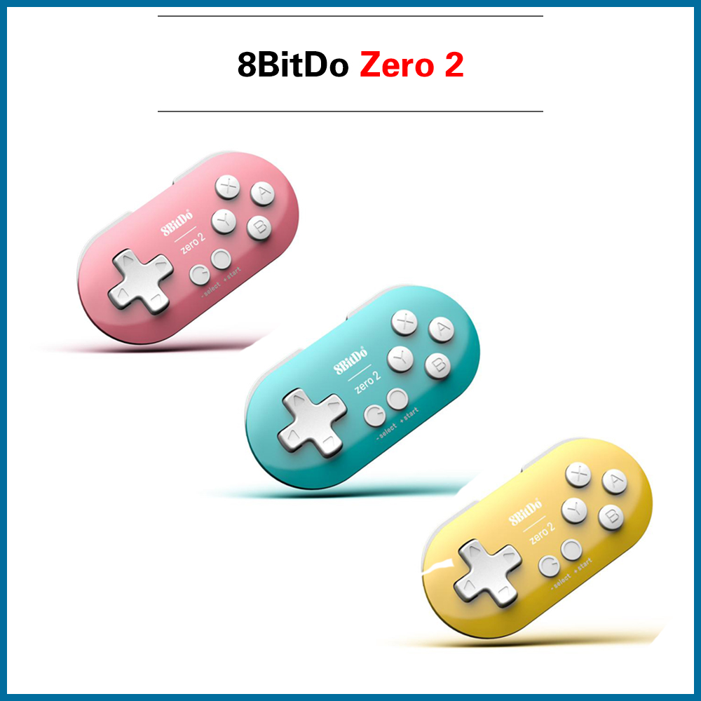 8BitDo Zero 2 Bluetooth Gamepad for Retro Game Console Switch Windows Android MacOS Gamepads Raspberry pi 2B/3B/3B+/4B/zero