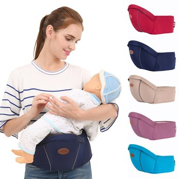 Baby Waist Stool Baby Carrier Single Stool Simple Seat Stool Four Seasons Universal Environmental Baby Carrier Baby Hip Seat teknum baby strap multi functional four seasons common front bracelet baby stool summer single stool hold baby artifact