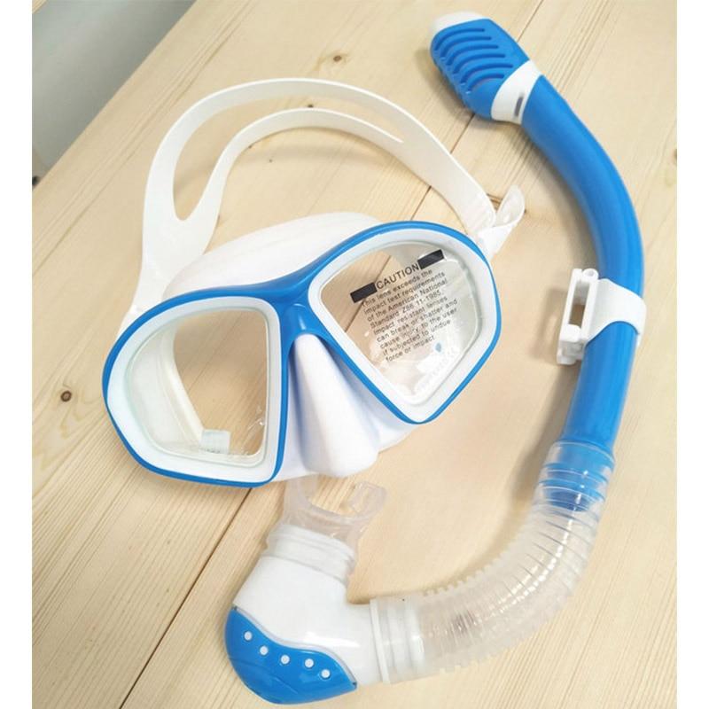 Детская маска для дайвинга, маска для плавания, очки для детей, сухая трубка для подводного дыхания, профессиональная маска для плавания и