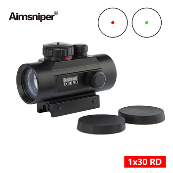 Hunting 1X30RD Red Green Dot Sight Riflescope Tactical Holographic Optics Scope With 11/20mm Rail For Airsoft Gun Accessories luger red dot sight hunting scope tactical optics reflex sight riflescope fit 20mm weaver rail for airsoft scope hunting gun