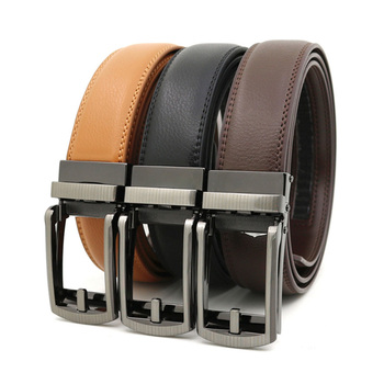 Top Quality Cow Genuine Leather Men's Belt Cowhide Strap for Male Automatic Buckle Belts for Men Alloy Buckle Belt leather belt men high quality cow genuine leather waistband luxury strap for male belts fashion alloy buckle belt men