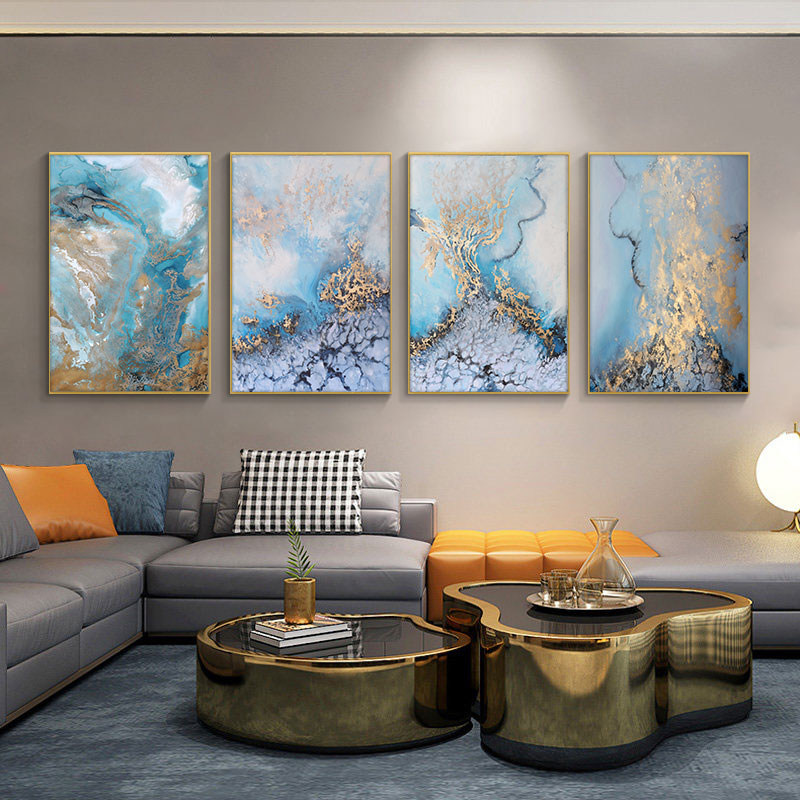 Modern Abstract Art Posters and Prints Wall Art Canvas Painting Abstrac Sea Landscape Picture for Living Room Cuadros Home Decor