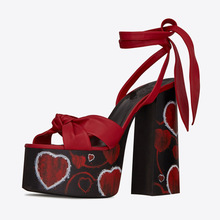 Platform Sandals Shoes Woman High-Heels Big-Size Ladies Summer Luxury 34-43 CAT Show