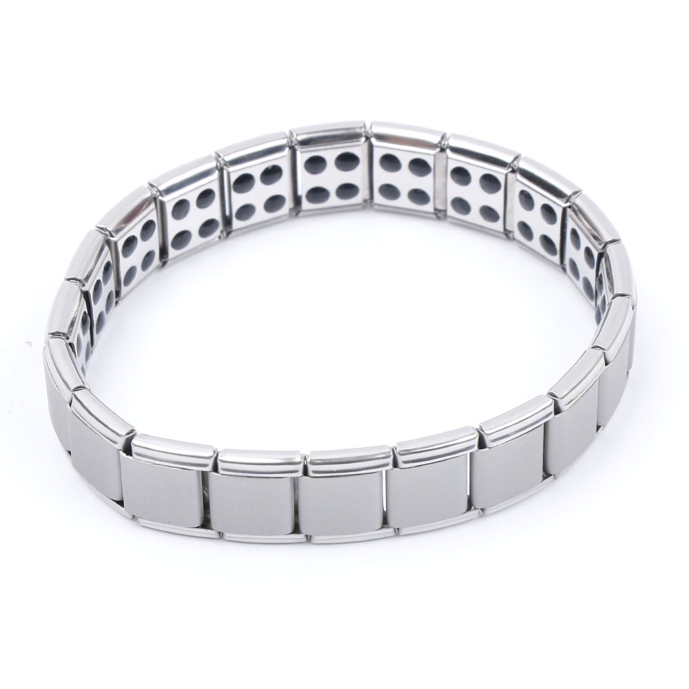 Magnetic Bracelet Men Healing Health Germanium Stretch Bracelet Jewelry Best Gift Stainless Steel Health Care Hand Chain Magnet