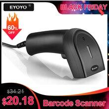 Eyoyo EY-006Y 2D сканер штрих-кодов портативный Проводной 1D 2D USB считыватель штрих-кодов qr-код сканер leitor de codigo de barra escaneador