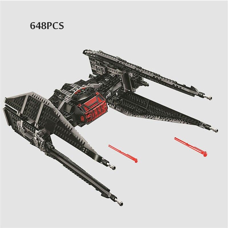 Bela 10907 Star Wars legoinglys lToys 705 шт. Kylo игрушки Tie Fighter набор модели строительные блоки кирпичи с 75179 Qunlong Starwars