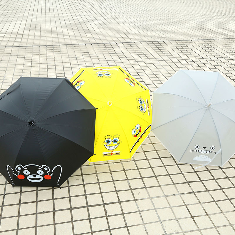 New Style Creative Cartoon Animal Long Handle College Style Parasol Cute Fresh Students Cool Automatic Simple Umbrella 4892
