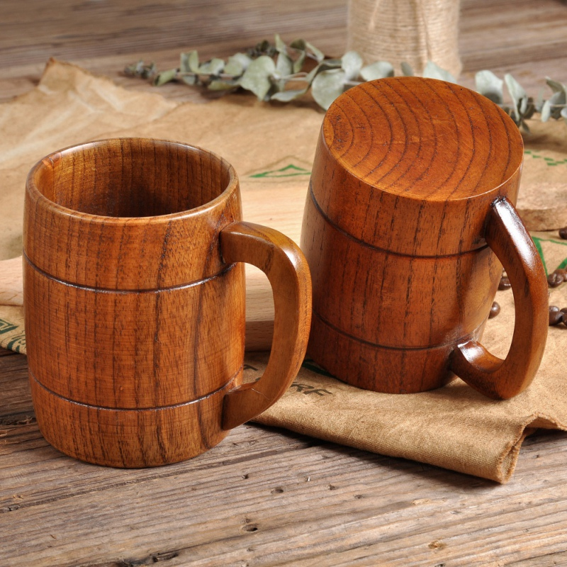 bamboo cups Primitive Drinking Cup Coffee Beer Drinkware Tea Cup Travel Teaware Cup water bottle Home Handmade Wooden Cup Gifts|Mugs| |  - title=