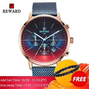 Image 2 - 2020 New Fashion Color Bright Glass Watch Men Top Luxury Brand Chronograph Mens Stainless Steel Business Clock Men Wrist Watch