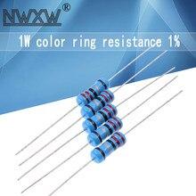 10pcs 1W filme De Metal resistor 1% 0.1R ~ 2.2M 10R 22R 47R 100R 330R 47 22 10 1K 4.7K K K K 100K 330K 470K 1 2 10 22 47 100 330