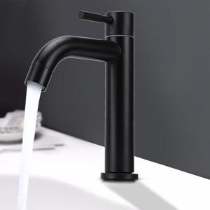 Image 2 - G1/2in Male Thread Stainless Steel Bathroom Basin Faucet Widen Waterfall Type Single Cold Water Tap For Toilet Balcony Kitchen