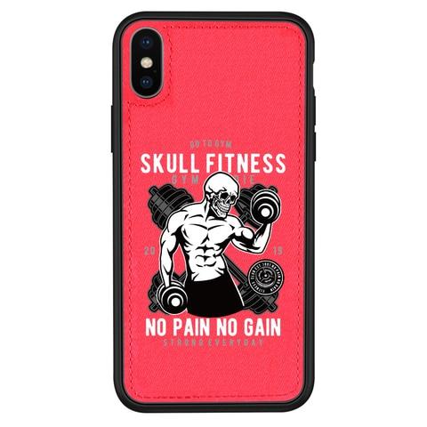 Original design Skull fitness Fabric phone Case For iPhone 11 Pro XS XR MAX 7 8 6 Plus Soft cloth Hard Back cover Magnetic case Multan