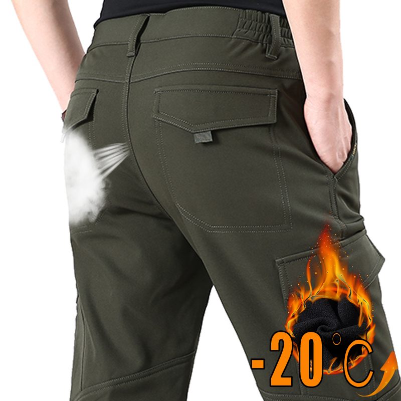 Military Tactical Pant Men Autumn Winter Hiking Trekking Army Thick Warm Trouser Male Plus Size 4XL Waterproof Outdoor Pant Mens