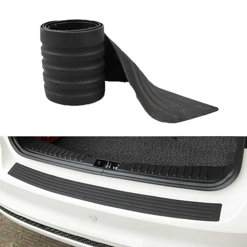 Universele Kofferbak Deur Guard Strips Sill Plate Protector Achterbumper Guard Rubber Mouldings Pad Trim Cover Strip Auto Styling