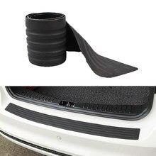 Evrensel araba gövde kapı emniyeti şeritler eşiği plaka koruyucu arka tampon koruma kauçuk pervaz Pad ayar kapağı şerit araba Styling