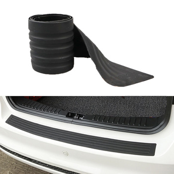 Universal Car Trunk Door Guard Strips Sill Plate Protector Rear Bumper Guard Rubber Mouldings Pad Trim Cover Strip Car Styling