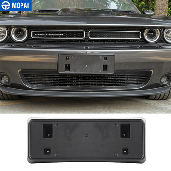 MOPAI License Plate for Dodge Challenger 2015+ Car Front License plate bracket Accessories for Dodge Challenger 2015+