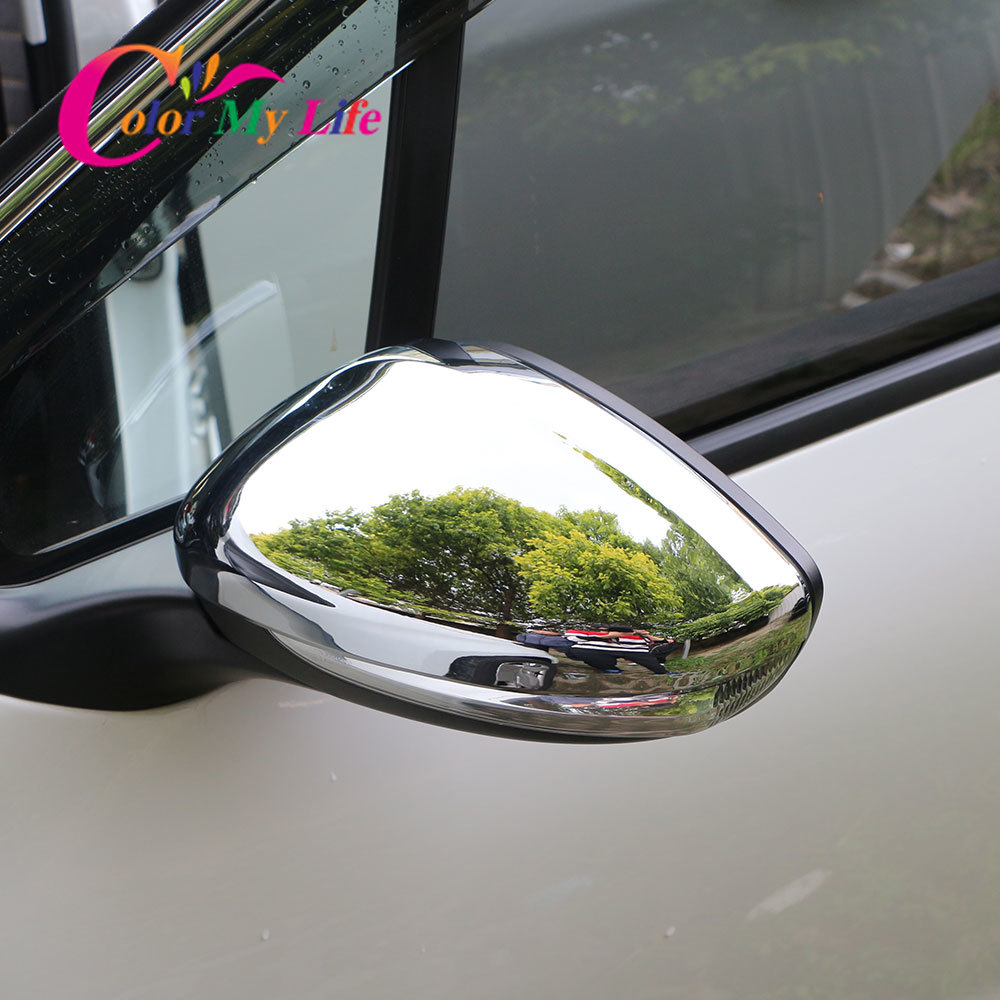 Color My Life 2Pcs <font><b>Car</b></font> Rear View Mirror Cover for <font><b>Peugeot</b></font> <font><b>308</b></font> 308s <font><b>308</b></font> <font><b>Sw</b></font> 2016 2017 2018 2019 Rearview Mirror Covers <font><b>Accessories</b></font> image