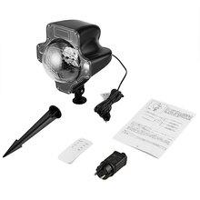 Тыквенный светодиодный светильник для снегопада Радиочастотный пульт дистанционного управления прожектор с эффектом снегопада светильник Снежный светильник светодиодный Ландшафтный Рождественский сценический светильник