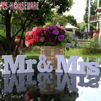 Mr & Mrs Letters Wedding Sign Party Signs Wedding Accessories Pattern: Letter