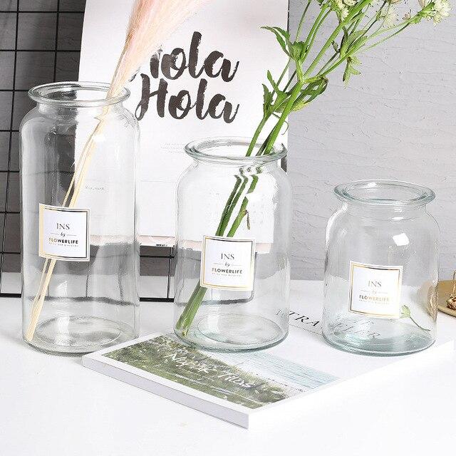 Nordic Design Glass Vase European Decoration Home Flower Vase Flower Arrangement Hydroponic Tabletop Vase For Flower Decoration 3