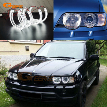 цена на For BMW X5 X5M E53 E70 Excellent quality DTM Style Ultra bright led Angel Eyes kit halo rings DRL