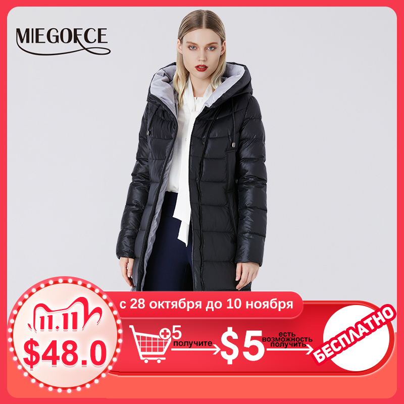 MIEGOFCE 2020 Coat Jacket Winter Women's Hooded Warm Parkas Bio Fluff Parka Coat Hight Quality Female New Winter Collection Hot|Parkas| - AliExpress