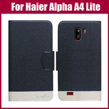 Лидер продаж! Haier Alpha A4 Lite чехол 5 цветов Флип ультра-тонкий модный цветной кожаный защитный чехол для телефона