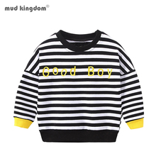 Boys Sweatshirts Kids Clothes Long-Sleeve Toddler Letter Stripe Mudkingdom Casual