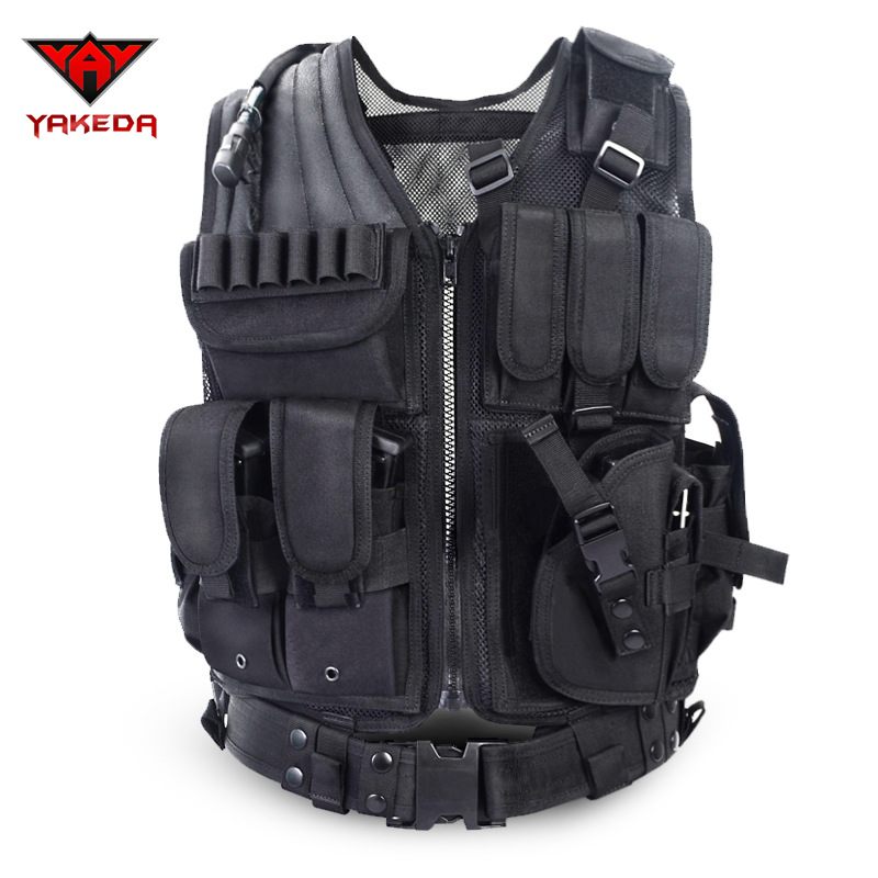 Yakeda Outdoor Sports Tactical Vest CS Field Operations Vest Ultra-Light Breathable Tactical Combat Waistcoat
