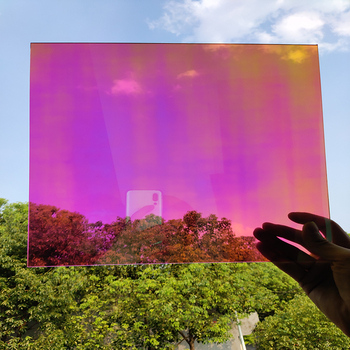 Dichroiczny opalizujący Film SUNICE 45cm x 45cm samoprzylepne naklejki okienne szkło Film kameleon szkło barwienia dekoracji DIY Cosplay tanie i dobre opinie 80 -100 10 -20 0 1kg Dichroism Chameleon Decorative Window Film Boczne Szyby Dekoracyjne folia i tatuaże Folie okienne i ochrona słoneczna