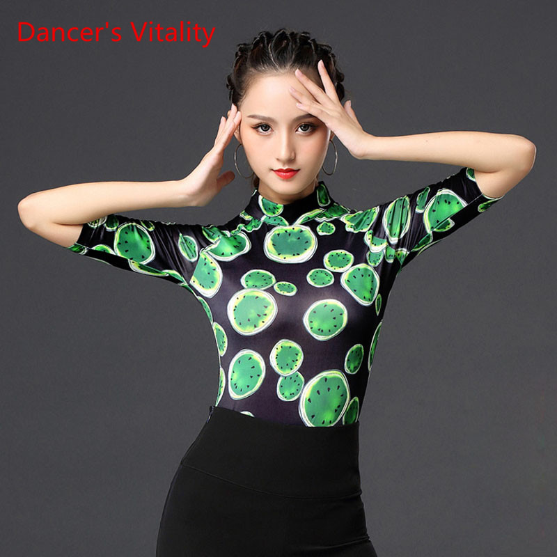 Ballroom Dancing New Female Adult National Standard Dance Clothing Latin Dance Top Modern Performance Practice Clothes