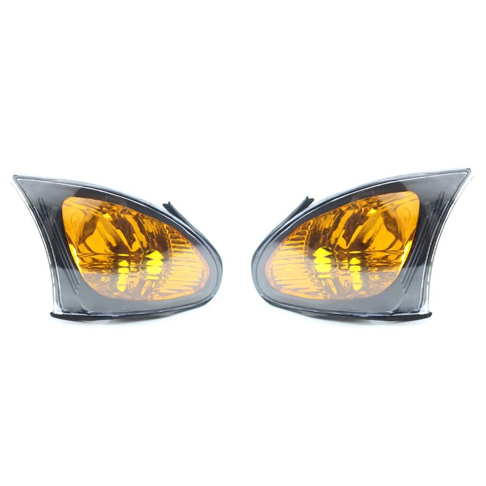 Pair Corner Lights Brake Turn signal Lamps For 2002-2005 BMW 3-Series E46 4 Door