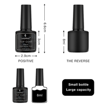 8ml Base et couche de finition UV Gel vernis à ongles imbiber de longue durée Gel vernis Art des ongles manucure Gel vernis UV LED