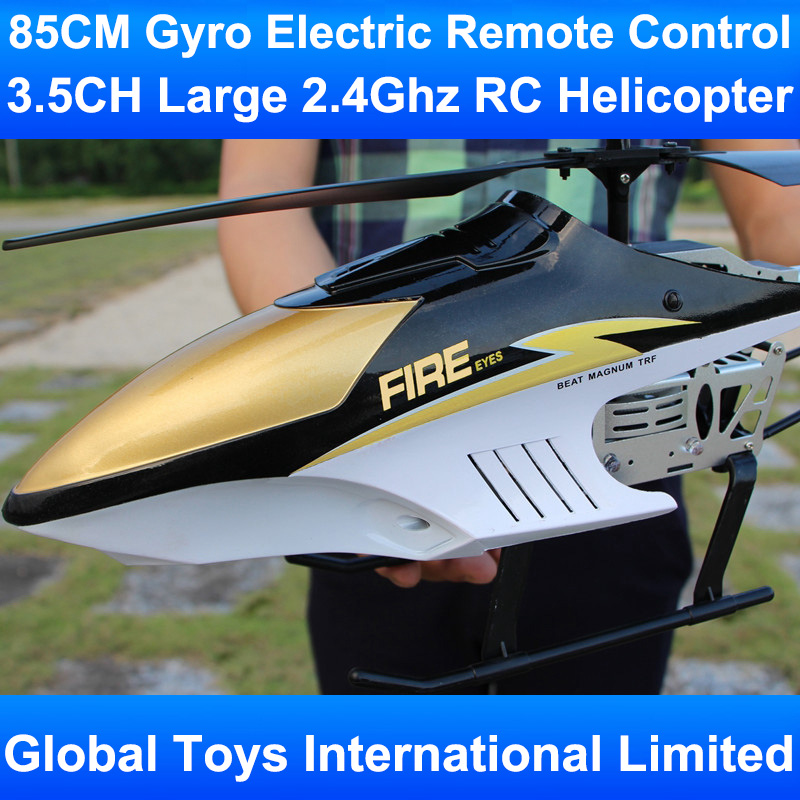 85CM Large Big 3.5CH Metal Frame Gyro With LED Lights 2.4Ghz Radio Remote Control Electric RC Helicoper Kids Children Gift Toys