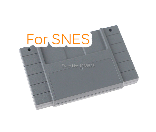 الولايات المتحدة الإصدار لعبة خرطوشة البلاستيك قذيفة 16 بت بطاقة الألعاب الإسكان الحال بالنسبة SNES/S FC مع 2 مسامير