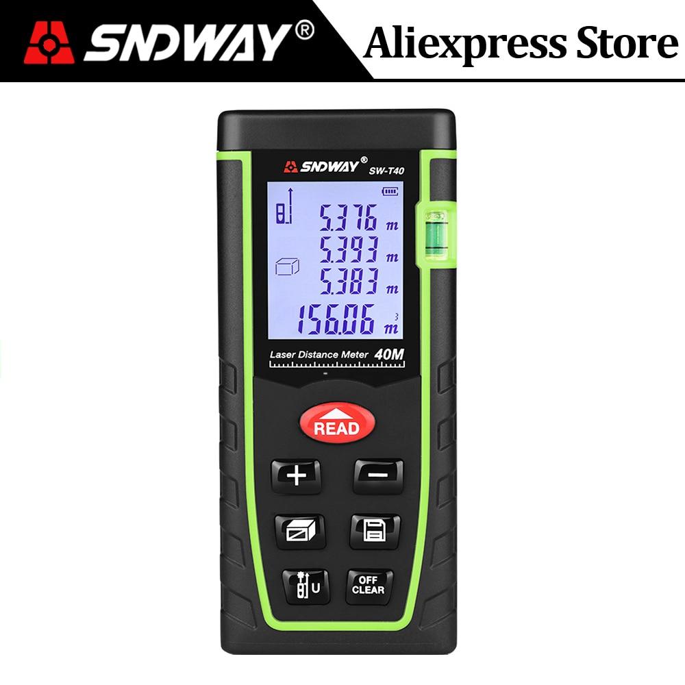100M Digital LCD Laser Distance Meter Range Finder Measure Tape Diastimeter TO