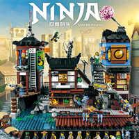 Ninja ville bâtiment la ville quais modèle de construction modulaire Compatible legoodsING 70657 06083 jouets pour enfants cadeaux d'anniversaire