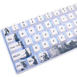 Pięć stron Dye-subbed PBT Keycap 108 Keys Cherry Profile Keycaps na przełączniki mx keyboard Knight errant keycaps