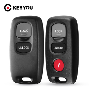 KEYYOU Replacement 2/3 Buttons Remote Key Shell Fob Case Keyless Entry For Mazda 2 3 6 Series 2004 2005 2006 2007 2008 2009 2010 image