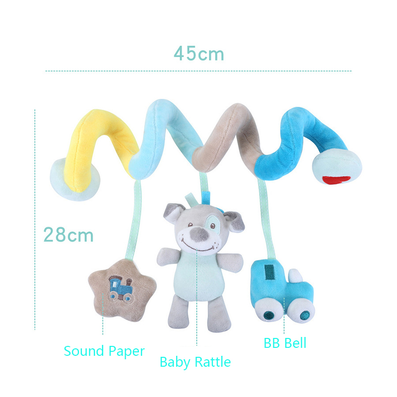 Mainan bayi buaian lembut kereta dorong mainan bayi spiral mainan - Mainan untuk kanak-kanak - Foto 4