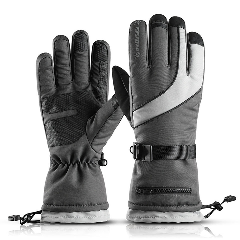 New Brand Men's Ski Gloves Snowboard Gloves Snowmobile Motorcycle Riding Winter Gloves Windproof Waterproof Unisex Snow Gloves
