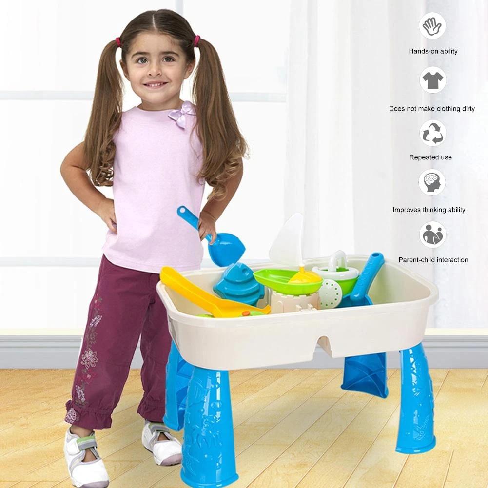 jouets de table de sable 2 en 1 pour enfants jouets pour l exterieur plage d ete