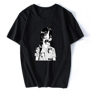 Horror Manga Junji Ito T Shirts for Men Shintaro Kago Guys Anime Shirt Tops Mens Cotton Short Sleeve Clothes Male T-Shirts