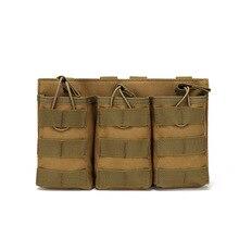 Triple cartridge bag tactical vest MOLLE accessory bag akm4 intercom storage bag hanging bag